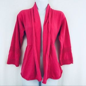 Christopher & Banks Cardigan Hot Pink Size Medium